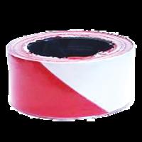 Ruban rouge et blanc (lg 200m)