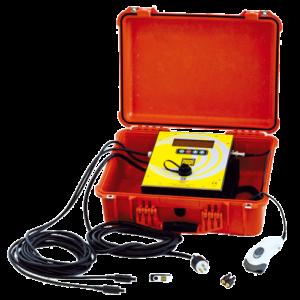 Soudeuse automatique avec lecteur de codes barres intégré dans sa valise de transport version légère