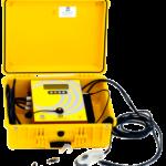 Soudeuse automatique avec lecteur de code à barres intégré dans sa valise de transport