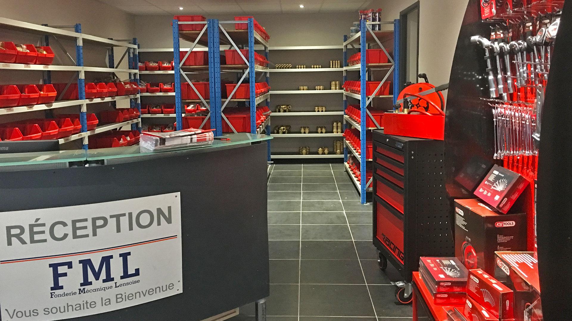Réception nouveau magasin